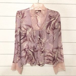 Anthropologie Tapemeasure lavender blouse